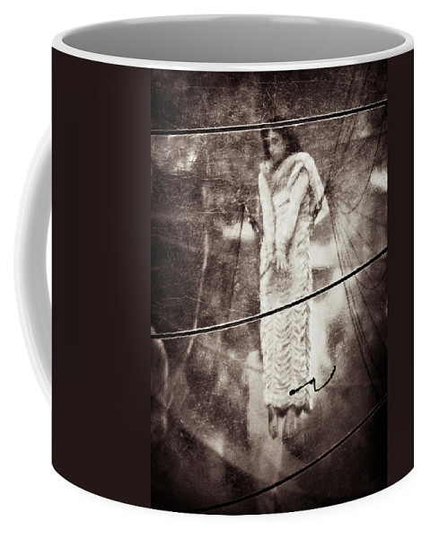 Girl Coffee Mug featuring the photograph The Girl In The Bubble by Dave Bowman