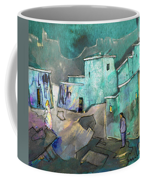 Acrylics Coffee Mug featuring the painting The Girl Of His Dreams by Miki De Goodaboom
