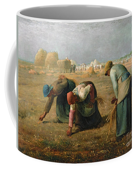 The Coffee Mug featuring the painting The Gleaners by Jean Francois Millet