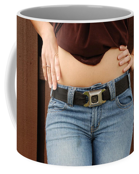 Body Coffee Mug featuring the photograph The Gm Belt by Rob Hans