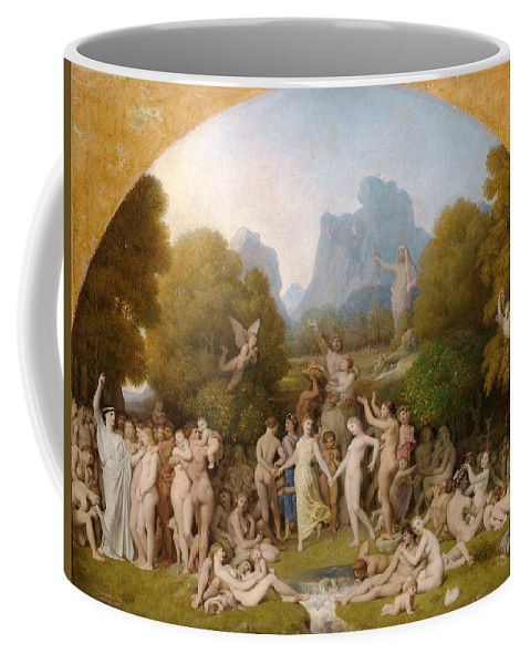 Jean-auguste-dominique Ingres Coffee Mug featuring the painting The Golden Age by Jean-Auguste-Dominique Ingres