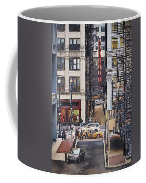 Goodman Theater Coffee Mug featuring the photograph The Goodman From The Platform by Scott Norris
