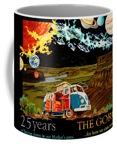 The Gorge Coffee Mug featuring the drawing The Gorge-one Sweet World by Joshua Morton