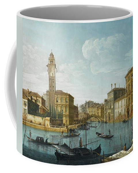Pietro Bellotti Venice Coffee Mug featuring the painting The Grand Canal At The Entrance by MotionAge Designs