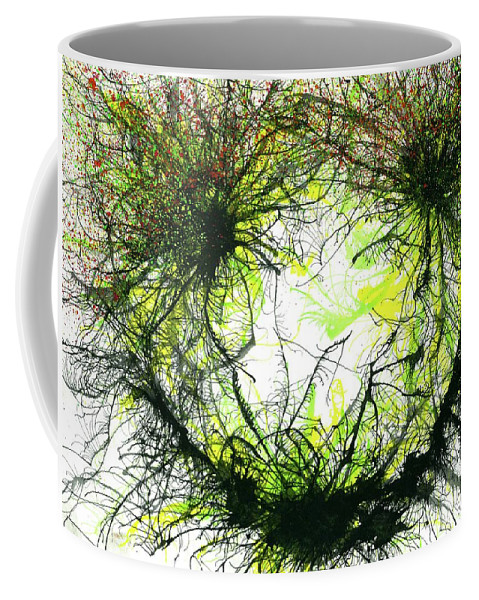 Abstract Coffee Mug featuring the painting The Grand Symphony Of The Universe #634 by Rainbow Artist Orlando L