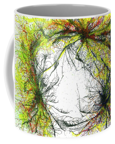 Abstract Coffee Mug featuring the painting The Grand Symphony Of The Universe #635 by Rainbow Artist Orlando L