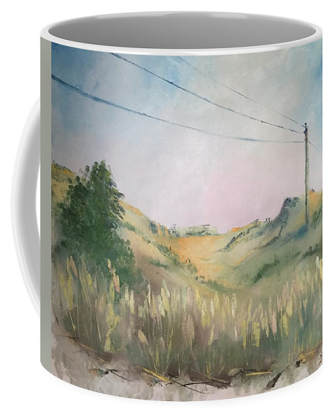 Oil On Canvas Coffee Mug featuring the painting The Grass by Natalya Zaytseva