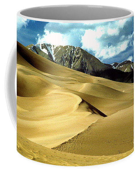 Sand Dunes Coffee Mug featuring the photograph The Great Colorado Sand Dunes Color Print by James BO Insogna