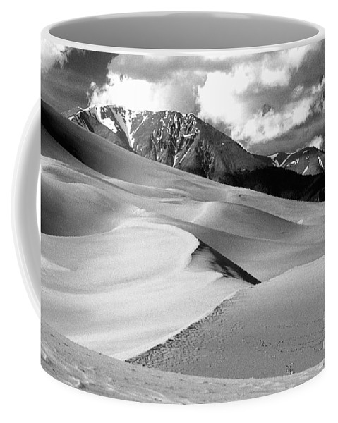 Sand Dunes Coffee Mug featuring the photograph The Great Sand Dunes Colorado Bw by James BO Insogna