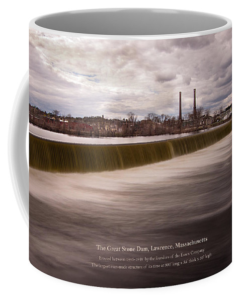 The Great Stone Dam Coffee Mug featuring the photograph The Great Stone Dam Lawrence, Massachusetts by Betty Denise