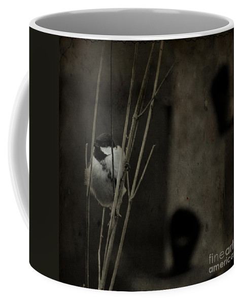 Tit Coffee Mug featuring the photograph The Great Tit by Angel Ciesniarska