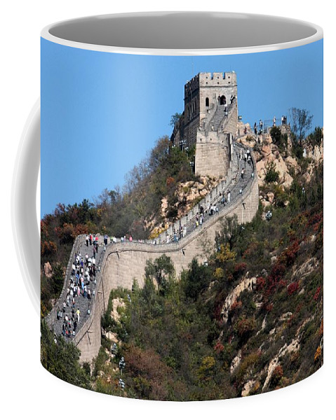 The Great Wall Of China Coffee Mug featuring the photograph The Great Wall Mountaintop by Carol Groenen
