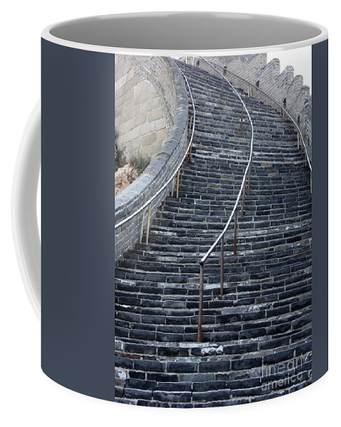 Steps Coffee Mug featuring the photograph The Great Wall Steps by Carol Groenen