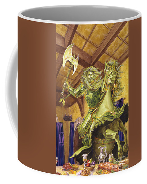 Fine Art Coffee Mug featuring the painting The Green Knight by Melissa A Benson