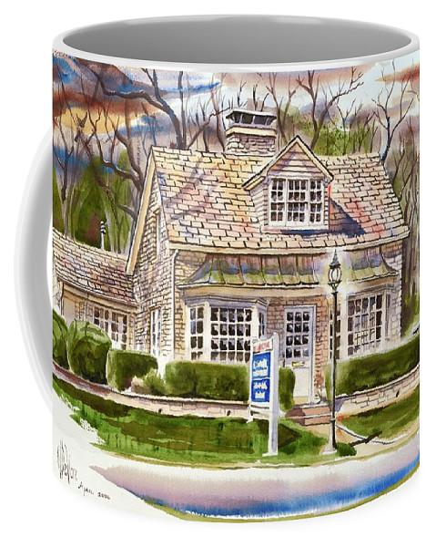 The Greystone Inn In Brigadoon Coffee Mug featuring the painting The Greystone Inn In Brigadoon by Kip DeVore