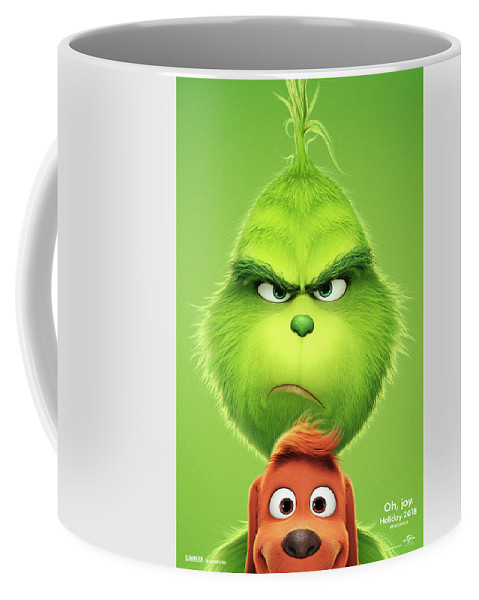 The Grinch Coffee Mug featuring the mixed media The Grinch 2018 A by Movie Poster Prints