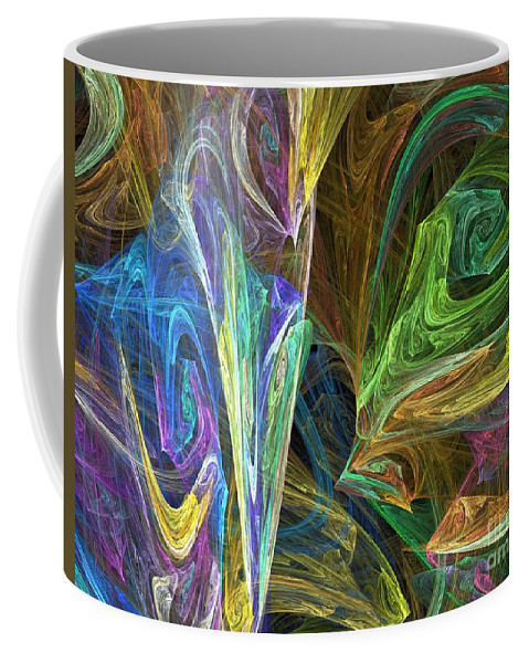 Fractals Coffee Mug featuring the digital art The Groove by Richard Rizzo