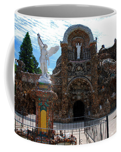 Entrance To The Grotto Of Redemption Coffee Mug featuring the photograph The Grotto Of Redemption In Iowa by Susanne Van Hulst