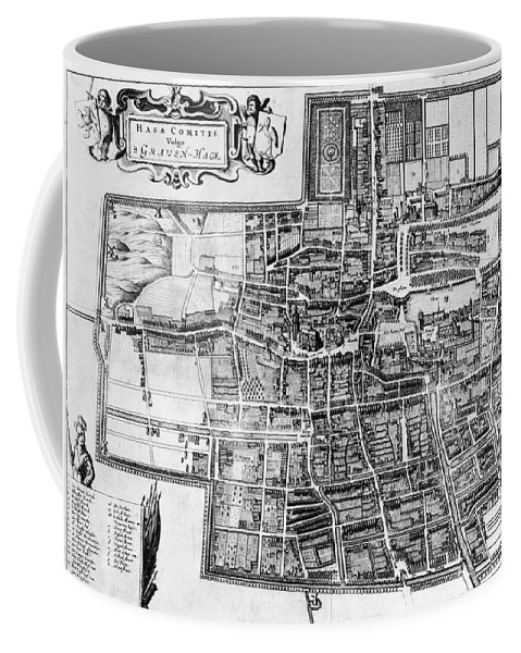 1650 Coffee Mug featuring the photograph The Hague: Map, C1650 by Granger