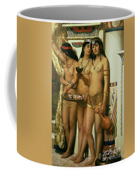 Royalty Coffee Mug featuring the painting The Handmaidens Of Pharaoh by John Collier