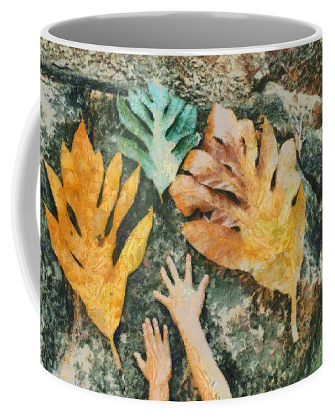 Leaf Coffee Mug featuring the photograph The Hands 2 by Ashish Agarwal
