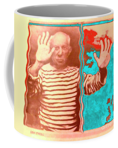 Picasso Coffee Mug featuring the digital art The Hands Of Picasso by Dan O'Neill