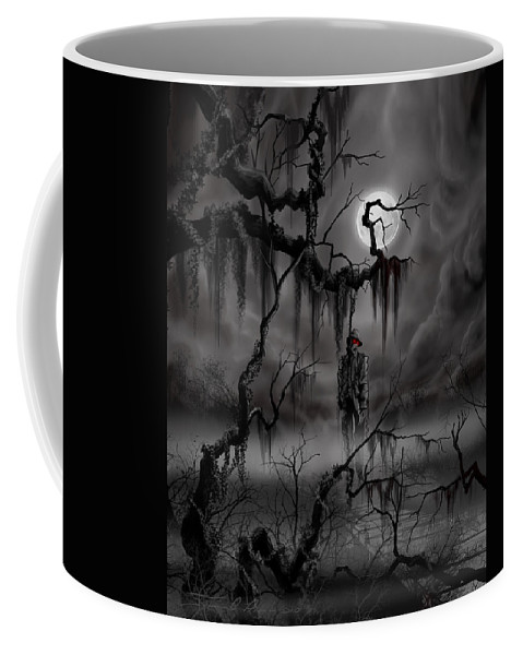 Nightmare Coffee Mug featuring the painting The Hangman by James Christopher Hill