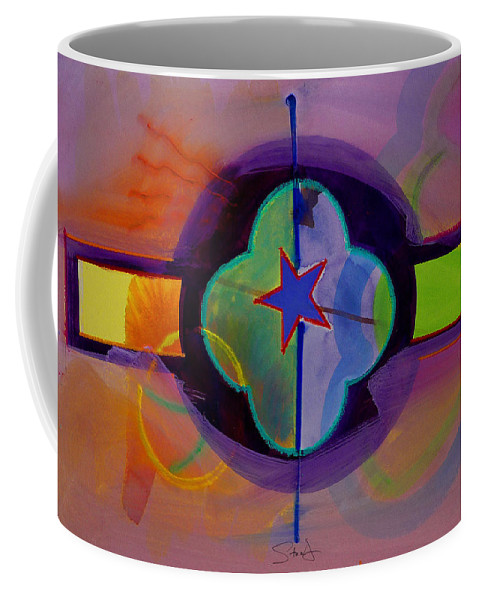 Star Coffee Mug featuring the painting The Happy American by Charles Stuart