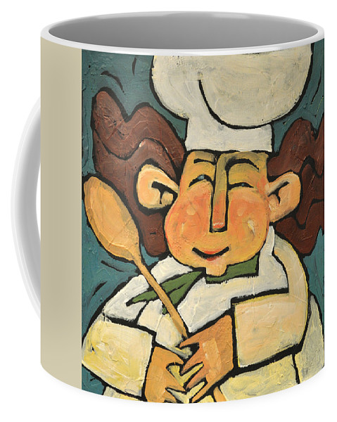Chef Coffee Mug featuring the painting The Happy Chef by Tim Nyberg