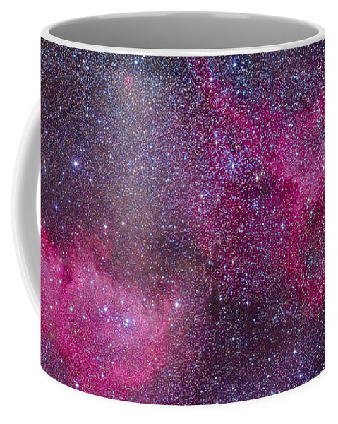Cassiopeia Coffee Mug featuring the photograph The Heart And Soul Nebulae by Alan Dyer