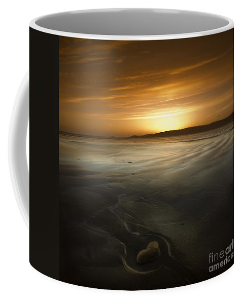 Heart Coffee Mug featuring the photograph The Heart Of Stone by Angel Ciesniarska