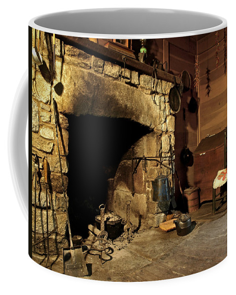 Cabin Coffee Mug featuring the photograph the Hearth by J K York