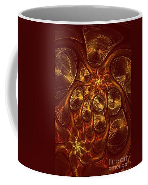 Digital Coffee Mug featuring the digital art The Hebben by Deborah Benoit