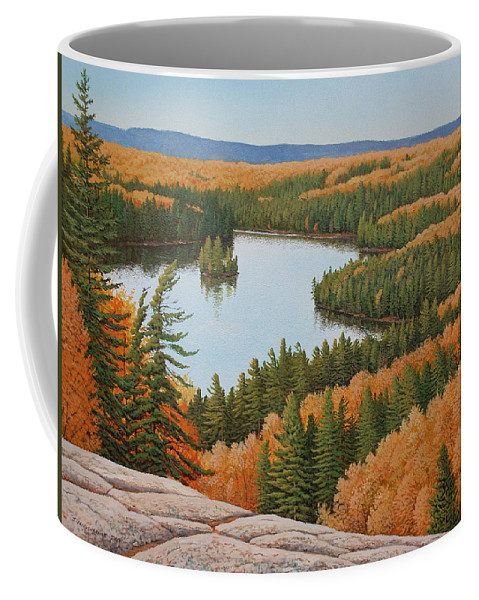 Landscape Coffee Mug featuring the painting The Height Of Autumn by Jake Vandenbrink