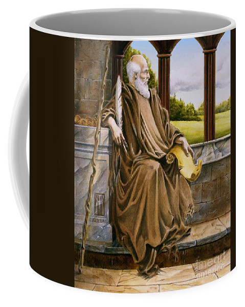 Wise Man Coffee Mug featuring the painting The Hermit Nascien by Melissa A Benson
