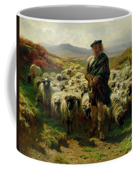The Coffee Mug featuring the painting The Highland Shepherd by Rosa Bonheur