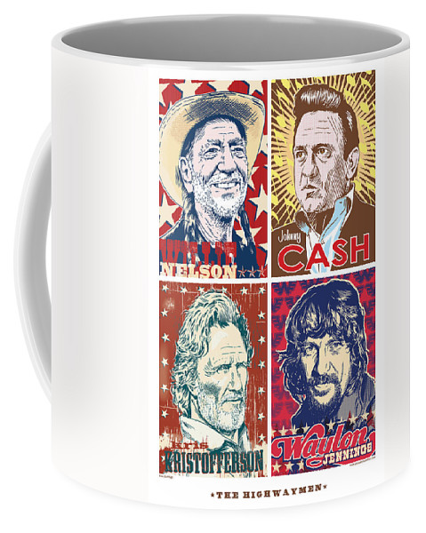 Outlaw Coffee Mug featuring the digital art The Highwaymen by Jim Zahniser