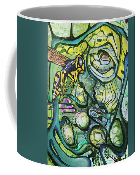Surreal Coffee Mug featuring the painting The Hive by Larry Calabrese