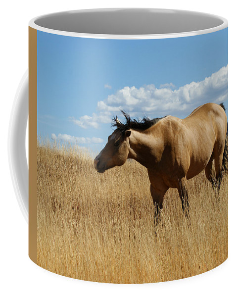 Horse Coffee Mug featuring the photograph The Horse by Ernie Echols