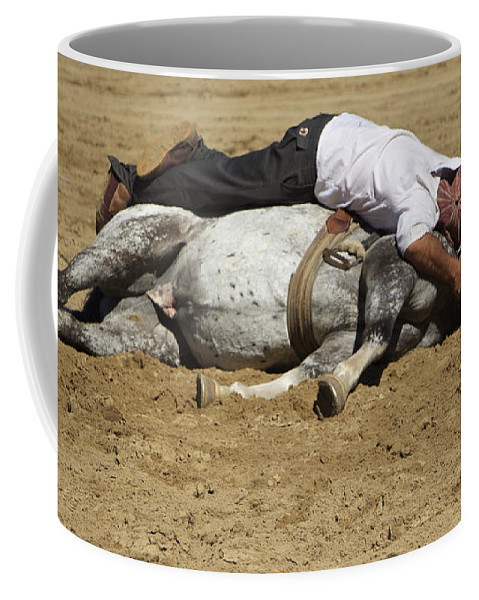 Horse Coffee Mug featuring the photograph The Horse Whisperer by Venetia Featherstone-Witty