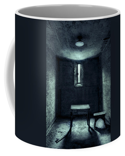 Cell Coffee Mug featuring the photograph The House Of A Locked Mind by Evelina Kremsdorf