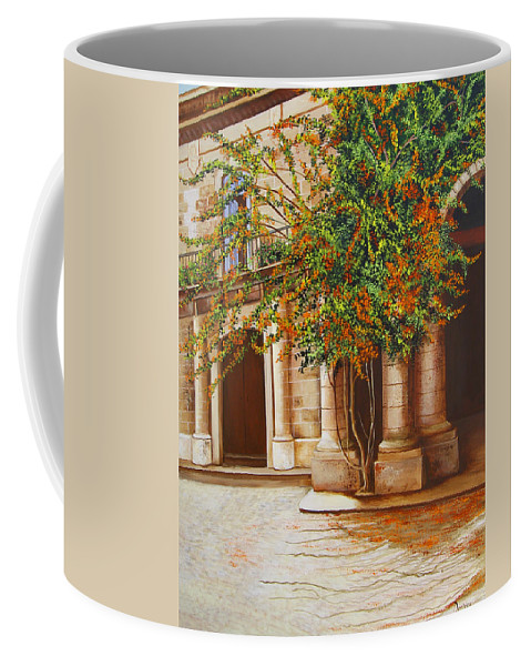 Cuban Painter Coffee Mug featuring the painting The House Of The Marquis Of Clear Water by Dominica Alcantara