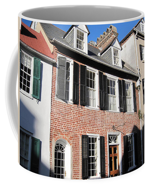 Photography Coffee Mug featuring the photograph The Houses Of Charleston by Susanne Van Hulst
