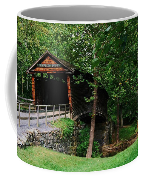 Covered Bridge Coffee Mug featuring the photograph The Humpback Bridge by Eric Liller