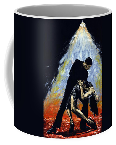 Tango Coffee Mug featuring the painting The Intoxication of Tango by Richard Young