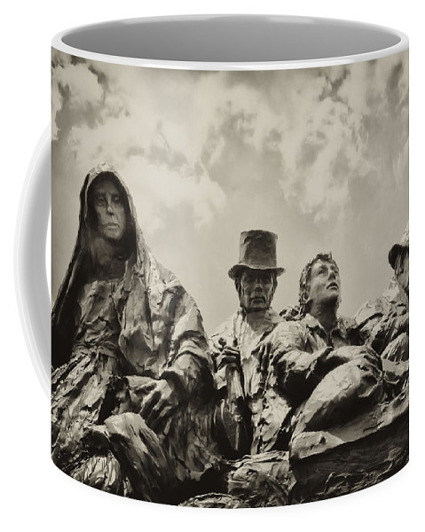 Philadelphia Coffee Mug featuring the photograph The Irish Emigration by Bill Cannon