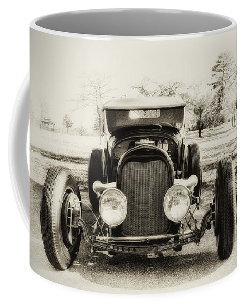 Classic Car Coffee Mug featuring the photograph The Jaunty Jalopy by Bill Cannon