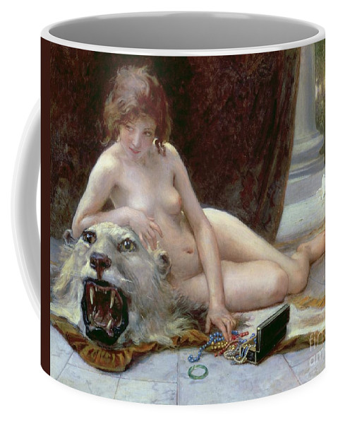 Nude Coffee Mug featuring the painting The Jewel Case by Guillaume Seignac