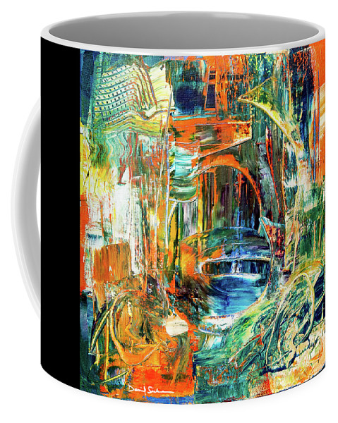 Abstract Coffee Mug featuring the painting The Journey Inward by Dan Sisken