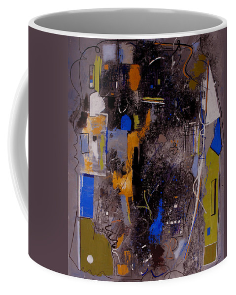 Abstract Coffee Mug featuring the painting The Journey by Ruth Palmer